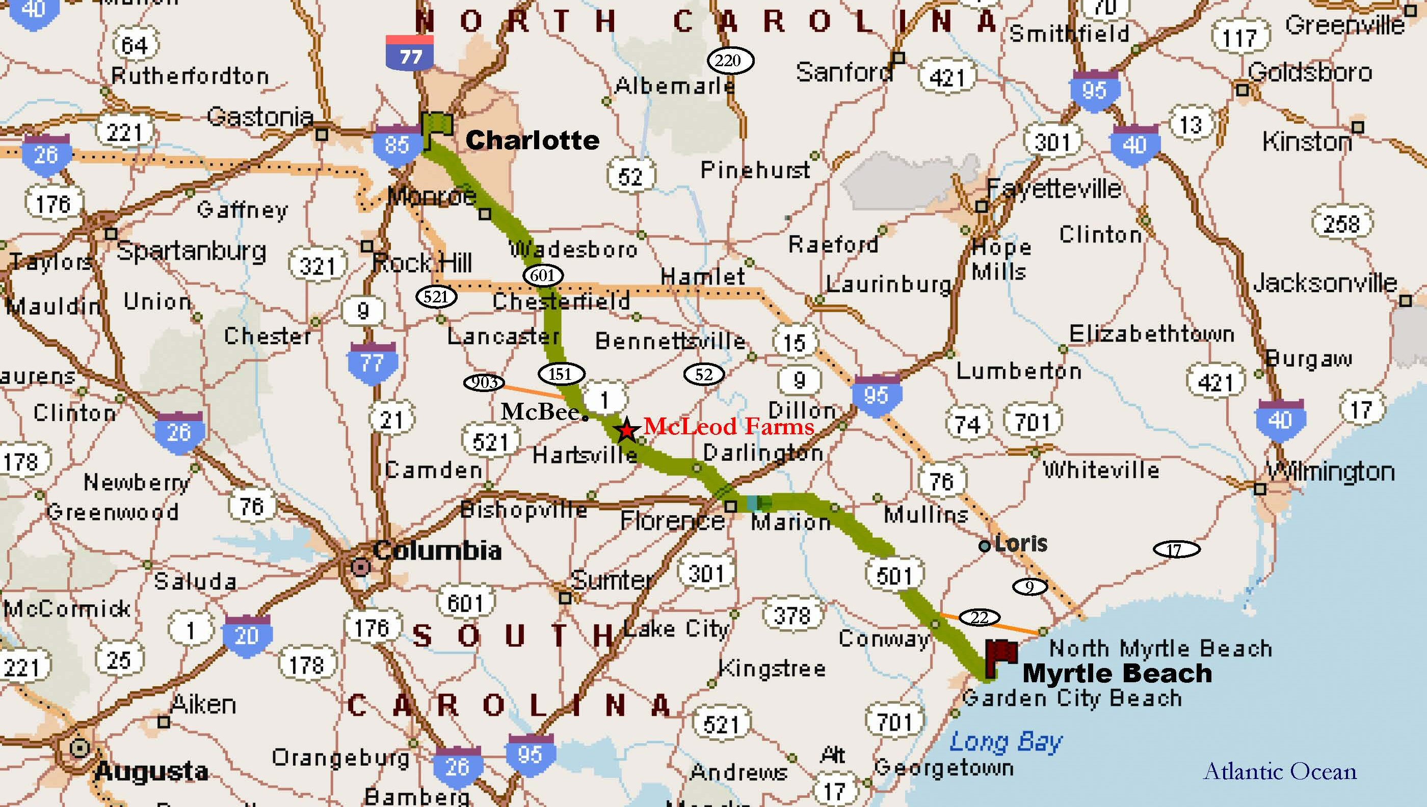 Directions From Myrtle Beach To Florence Sc